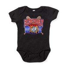 Baseball 1st Birthday Baby Bodysuit
