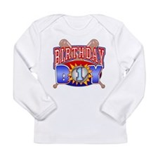 Baseball 1st Birthday Long Sleeve Infant T-Shirt