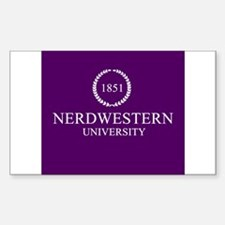Nerdwestern University Decal