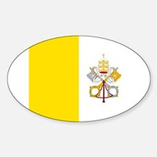 Vatican City Flag Oval Decal