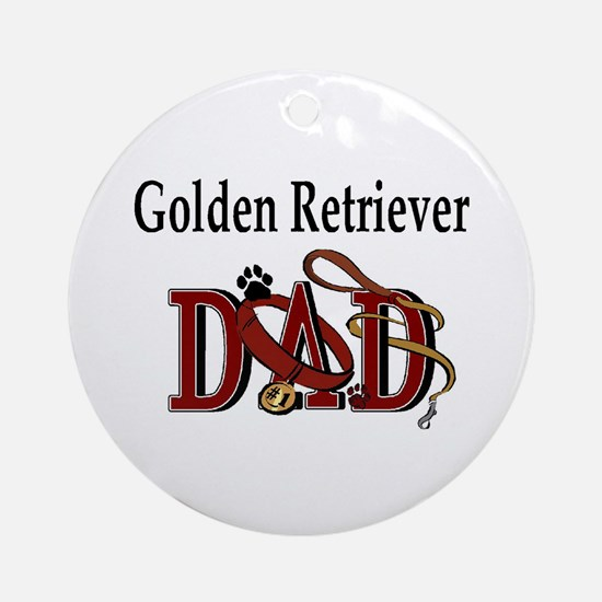 Golden Retriever Dad Ornament (Round)