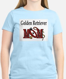 Golden Retriever Mom Women's Pink T-Shirt