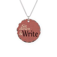 Sit Down and Write Necklace