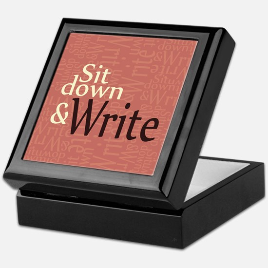 Sit Down and Write Keepsake Box