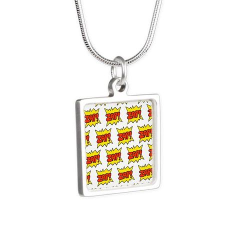 'Zap!' Silver Square Necklace