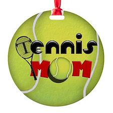 Tennis Mom Round Ornament