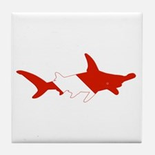 Shark Diver Tile Coaster