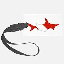 Shark Diver Luggage Tag