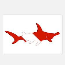 Shark Diver Postcards (Package of 8)