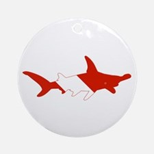 Shark Diver Ornament (Round)