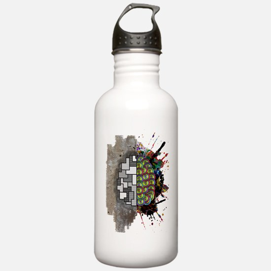 Left Brain Right Brain Sports Water Bottle