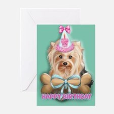 ByCatiaCho Yorkie LuLoo Greeting Cards (Pk of 20)