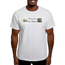 Pro-life? Go Vegan! Ash Grey T-Shirt