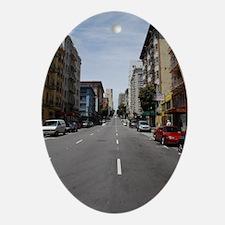 Street's of san Francisco Oval Ornament