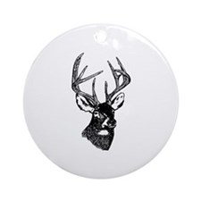White Tailed Deer 10 Point Buck Ornament (Round)