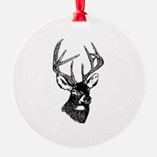 White Tailed Deer 10 Point Buck Ornament