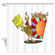 Family Bucket Shower Curtain