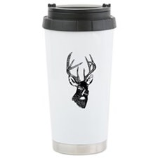 White Tailed Deer 10 Point Buck Travel Mug