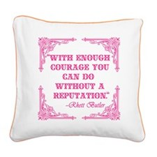 Rhett Butler Quote about Reputation Square Canvas