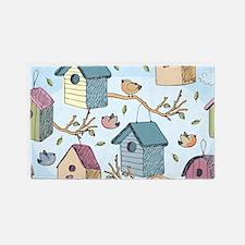 Cute Birdhouses 3'x5' Area Rug