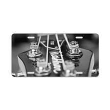 Washburn Bass Guitar black  Aluminum License Plate
