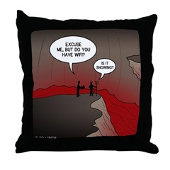 Wi-Fi in Hell Throw Pillow
