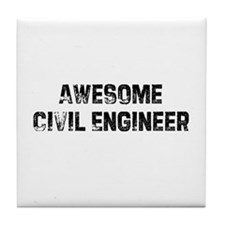 Awesome Civil Engineer Tile Coaster