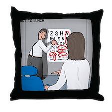 Eye Chart Throw Pillow