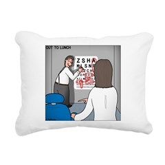 Eye Chart Rectangular Canvas Pillow