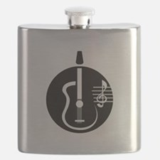 guitar abstract cutout with notes Flask