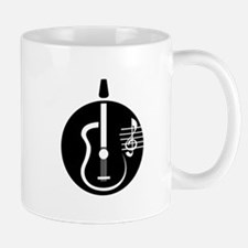 guitar abstract cutout with notes Mugs