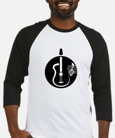 guitar abstract cutout with notes Baseball Jersey