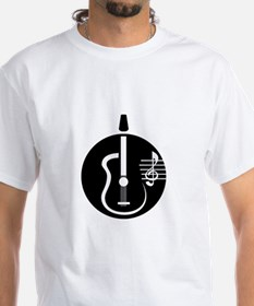 guitar abstract cutout with notes T-Shirt