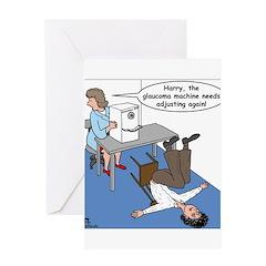 Glaucoma Machine Greeting Card