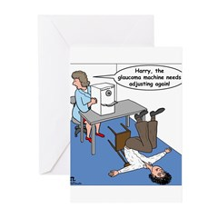Glaucoma Machine Greeting Cards (Pk of 20)