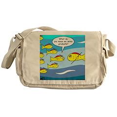 Fish Graduation Messenger Bag