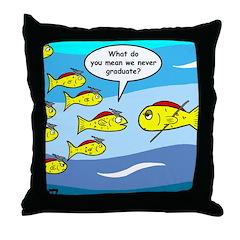 Fish Graduation Throw Pillow
