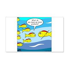 Fish Graduation Wall Decal