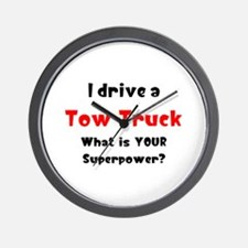 tow truck Wall Clock