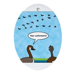 Geese Nonconformists Ornament (Oval)