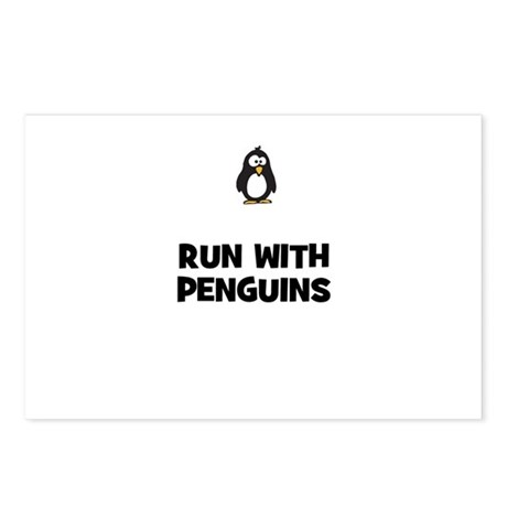 run with penguins Postcards (Package of 8)