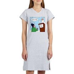 Cat Lady in Heaven Women's Nightshirt