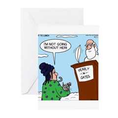 Cat Lady in Heaven Greeting Cards (Pk of 10)