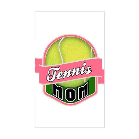 Tennis Mom Sticker (Rectangle)