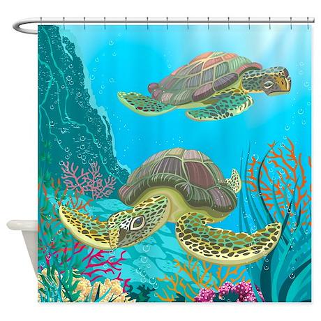 Cute Sea Turtles Shower Curtain