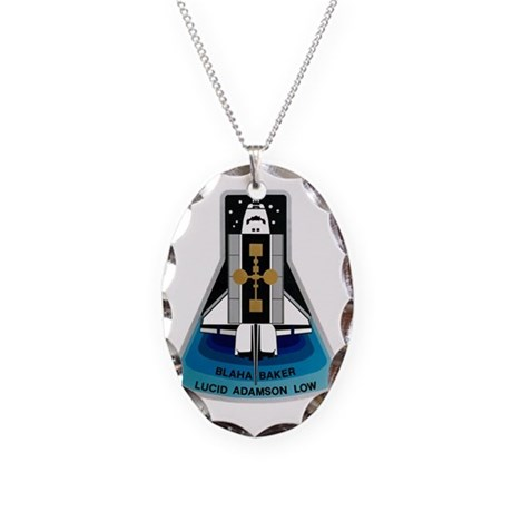 OV-104 Atlantis: STS 43 Necklace Oval Charm