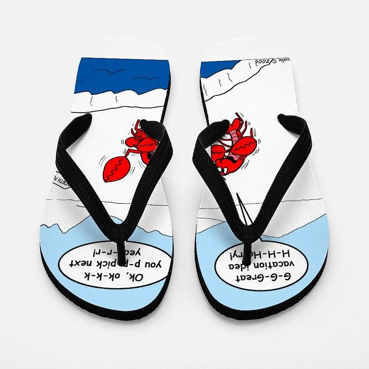 Lobster Vacation Flip Flops