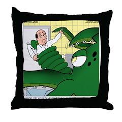 Giant Squid Soaking Throw Pillow