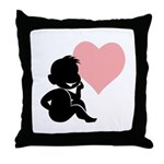 Valentine Silhouette Thinking of You Design Throw