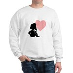 Valentine Silhouette Thinking of You Design Sweats
